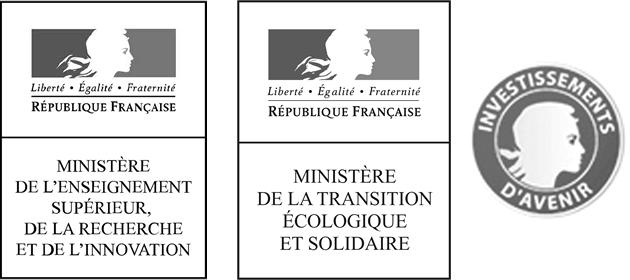 Financeurs Résif : MESRI, MTE, PIA