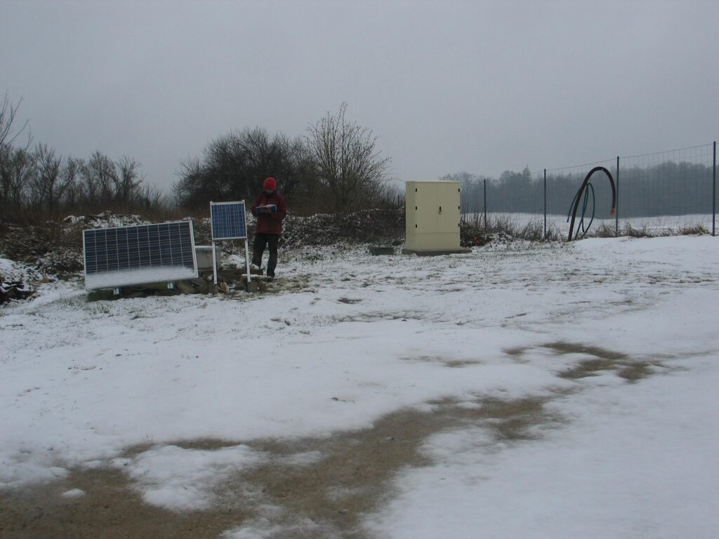 The seismological station in Manonville (Lorraine) MANO, installed in drilling