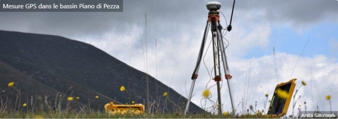 Mesure GPS dans le bassin Piano di Pezza