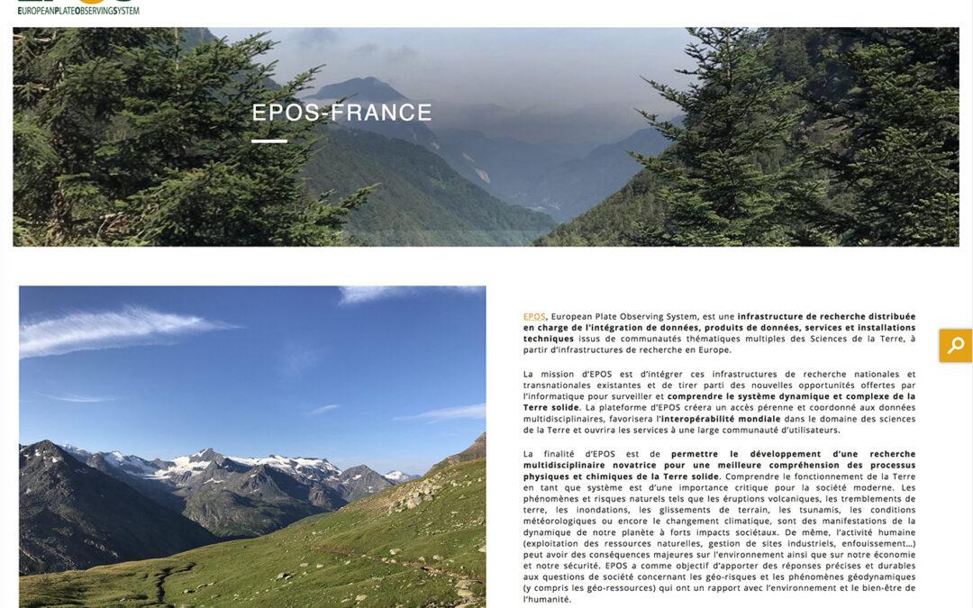 Nouveautés web autour de Résif : Epos-France, BDFA, Sisfrance