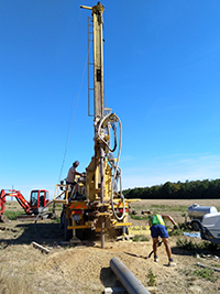 Last drilling campaign of the Broadband Construction Project