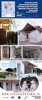 Le séisme des Saintes en Guadeloupe, 21 novembre 2004 (vignette)