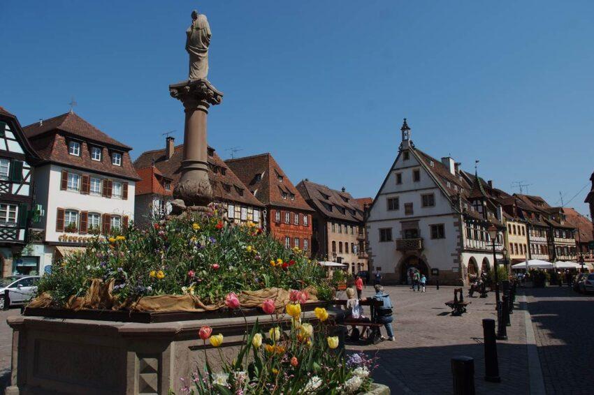 Place du marché à Obernai © Office du Tourisme Obernai