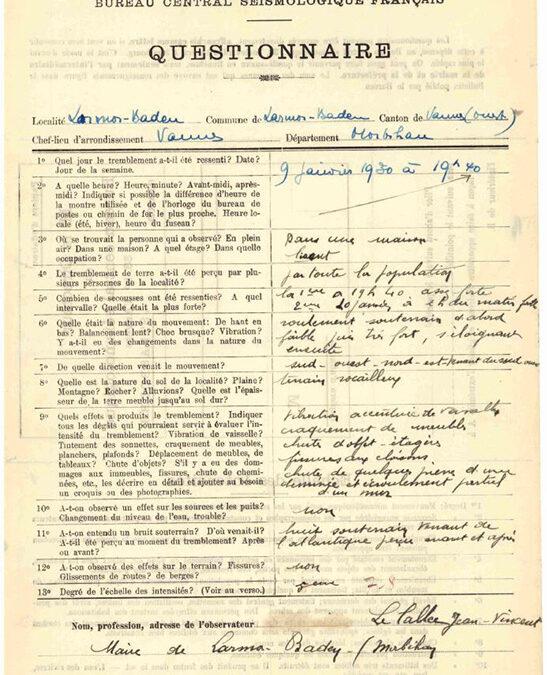 Le BCSF publie la collection de ses formulaires d'enquête de 1910 à 2020