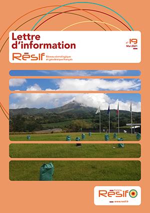 Parution de la Lettre d'information Résif n°19 – Mai 2021