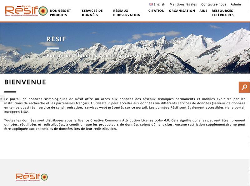 The new seismological data portal Résif is online