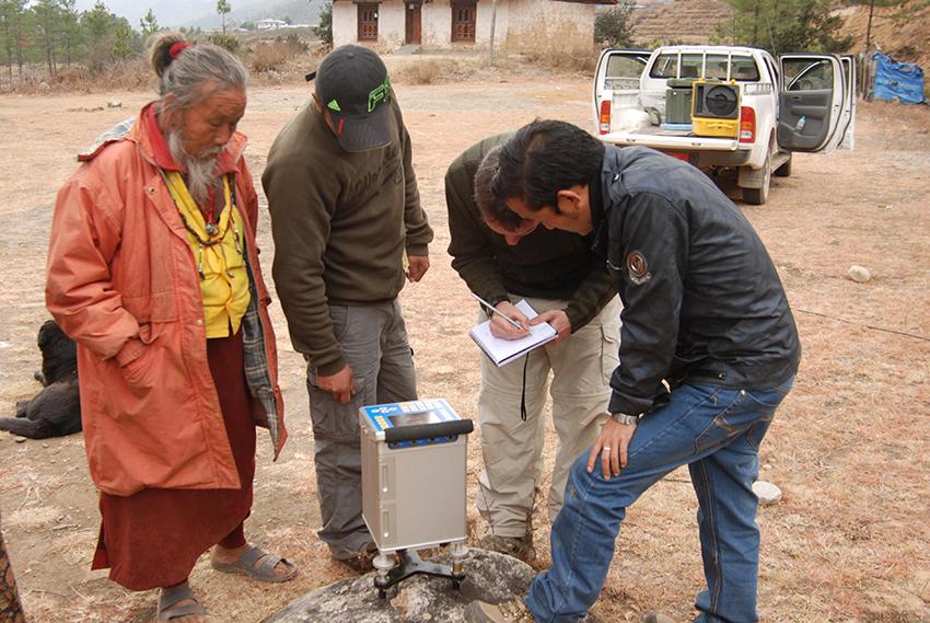 Mesures gravimétriques au Bhoutan dans le cadre du projet ANR BhutaNepal